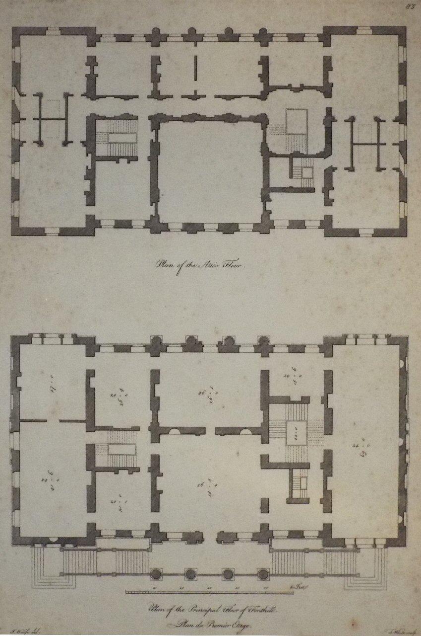 Antique Prints of Fonthill Splendens House – Knole House Floor Plan