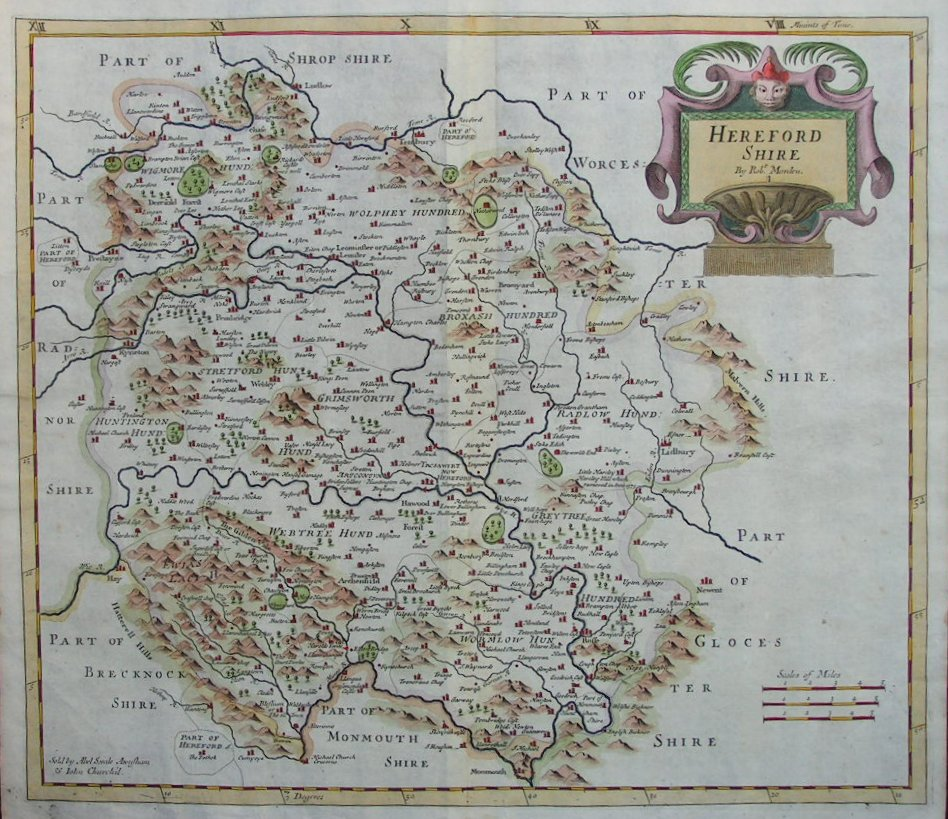 Antique Maps and Prints of Herefordshire