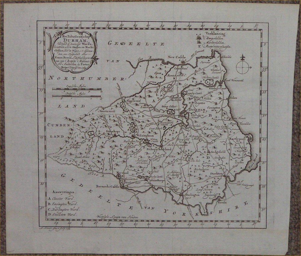 Antique Maps And Prints Of Durham - Antique maps amsterdam