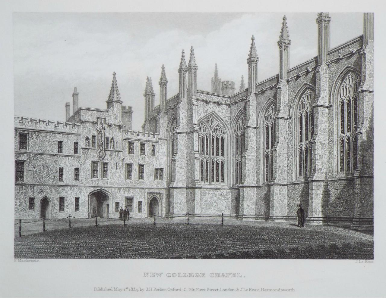 New College Oxford ENG Photochrome EPC1145 Art Print A4 A3 A2 A1