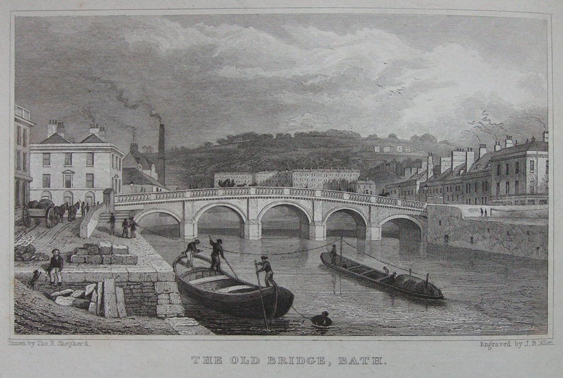 Picturesque Old Bristol. 2 volumes. 53 sepia etched plates. 1885.