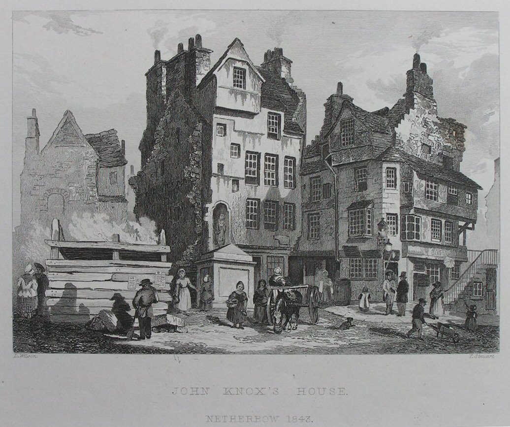 Antique Prints Of Edinburgh Scotland