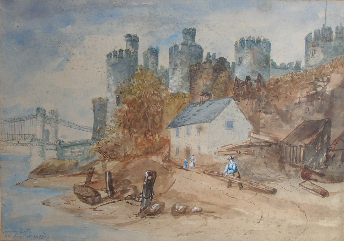 Aberconwy Abbey; Conventual Church Antique Print 1786 A Wide Selection Of Colours And Designs Art