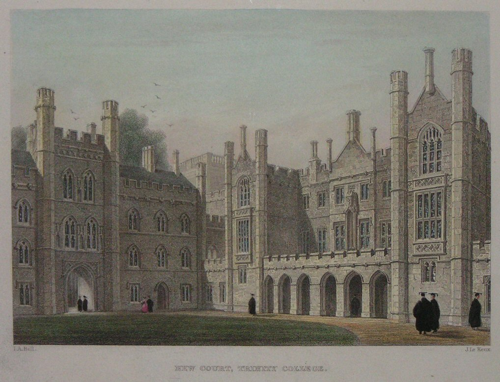 The great court and chapel of trinity college in the university of