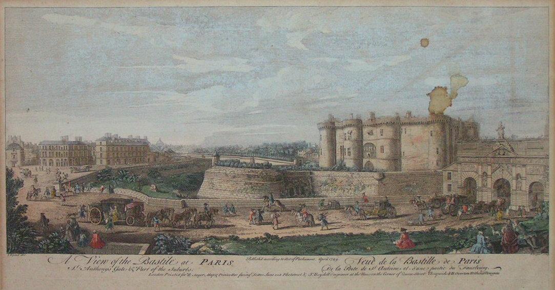 Antique Views of Paris France on