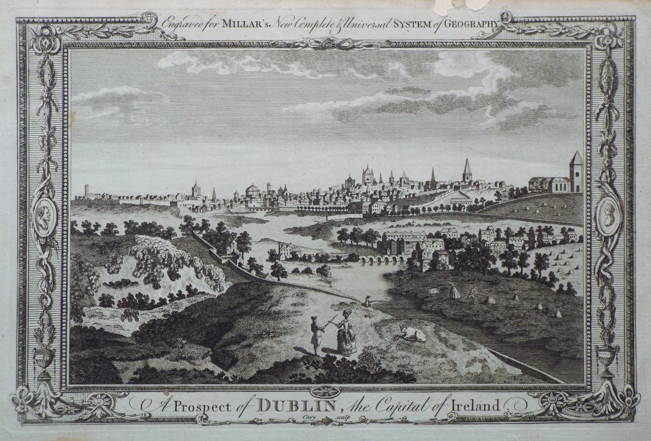 Antique Print 1828 IRELAND Dublin from Phoenix Park