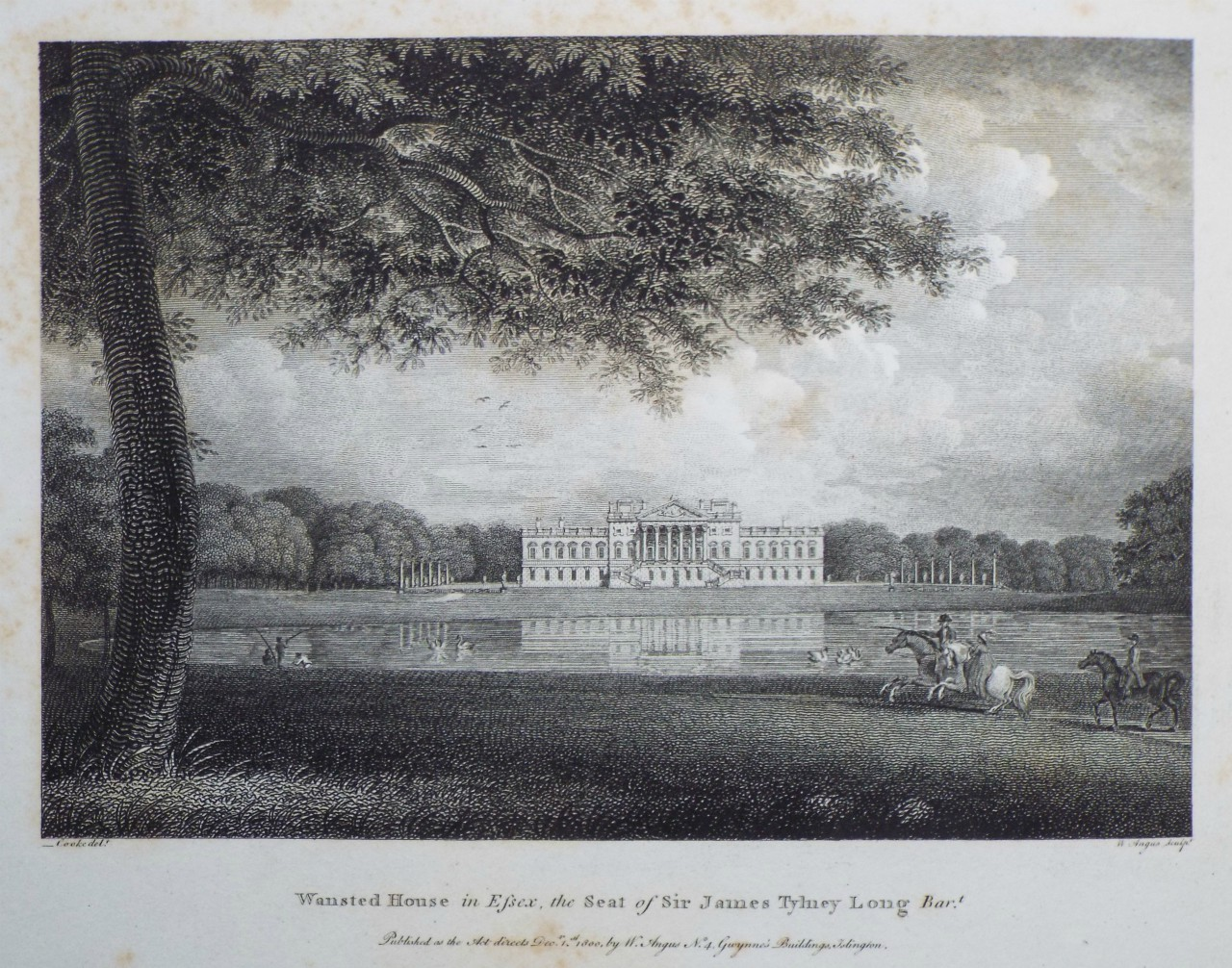 Print - Wanstead House in Essex, the Seat of Sir James Tylney Long Bart. - Angus