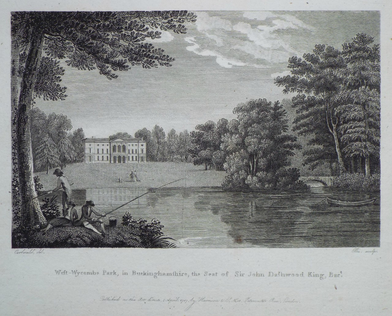 Print - West-Wycombe Park, in Buckinghamshire, the Seat of Sir John Dashwood King, Bart. -