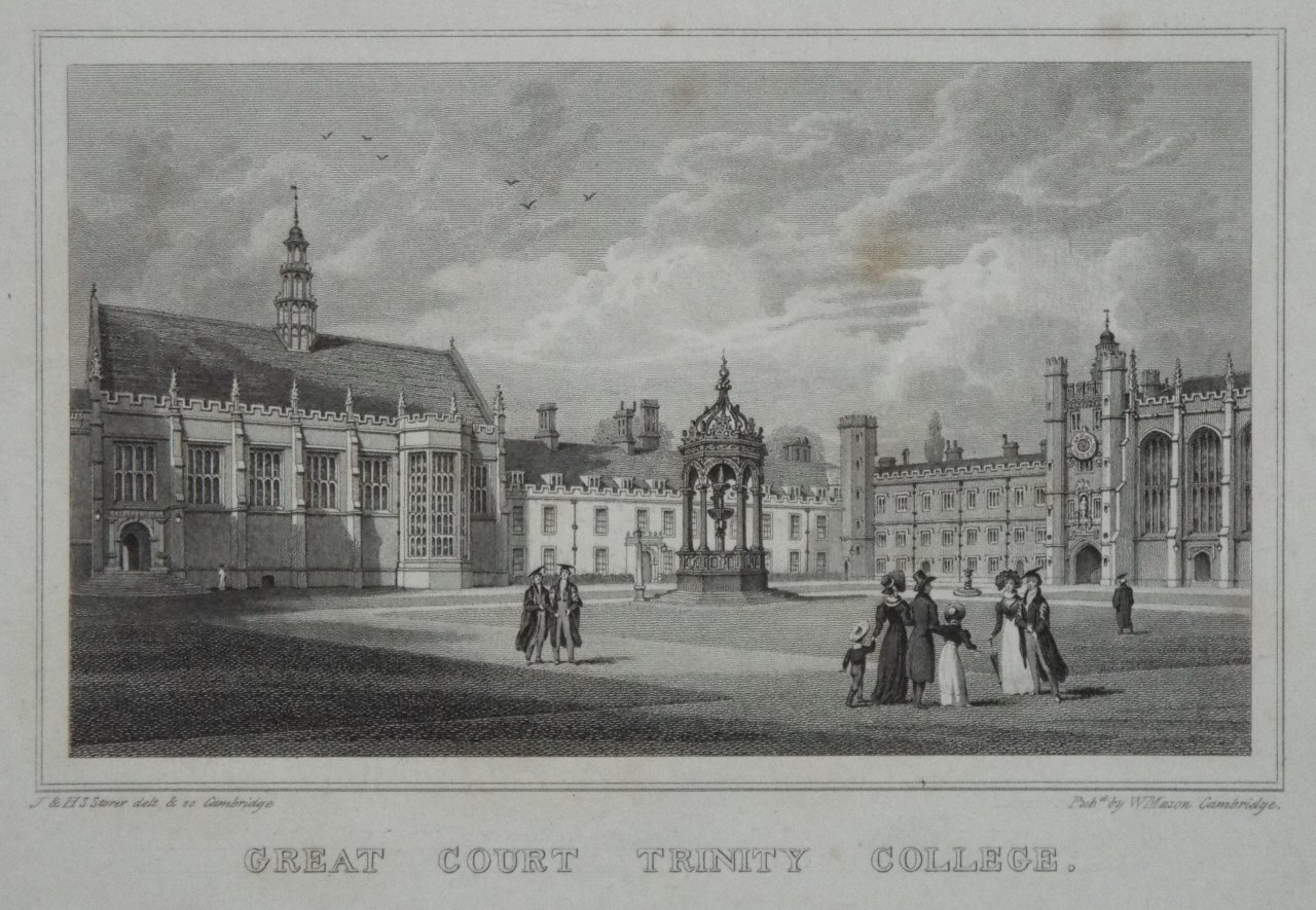 Print - Great Court Trinity College. - Storer