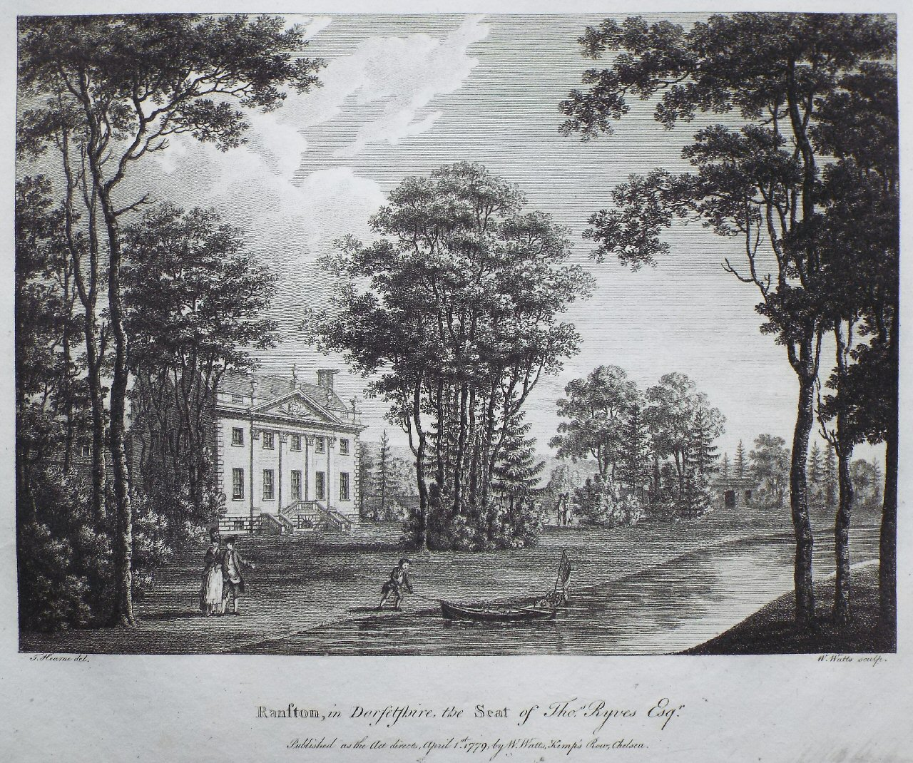 Print - Ranston, in Dorsetshire, the Seat of Thos Ryves Esqr - Watts