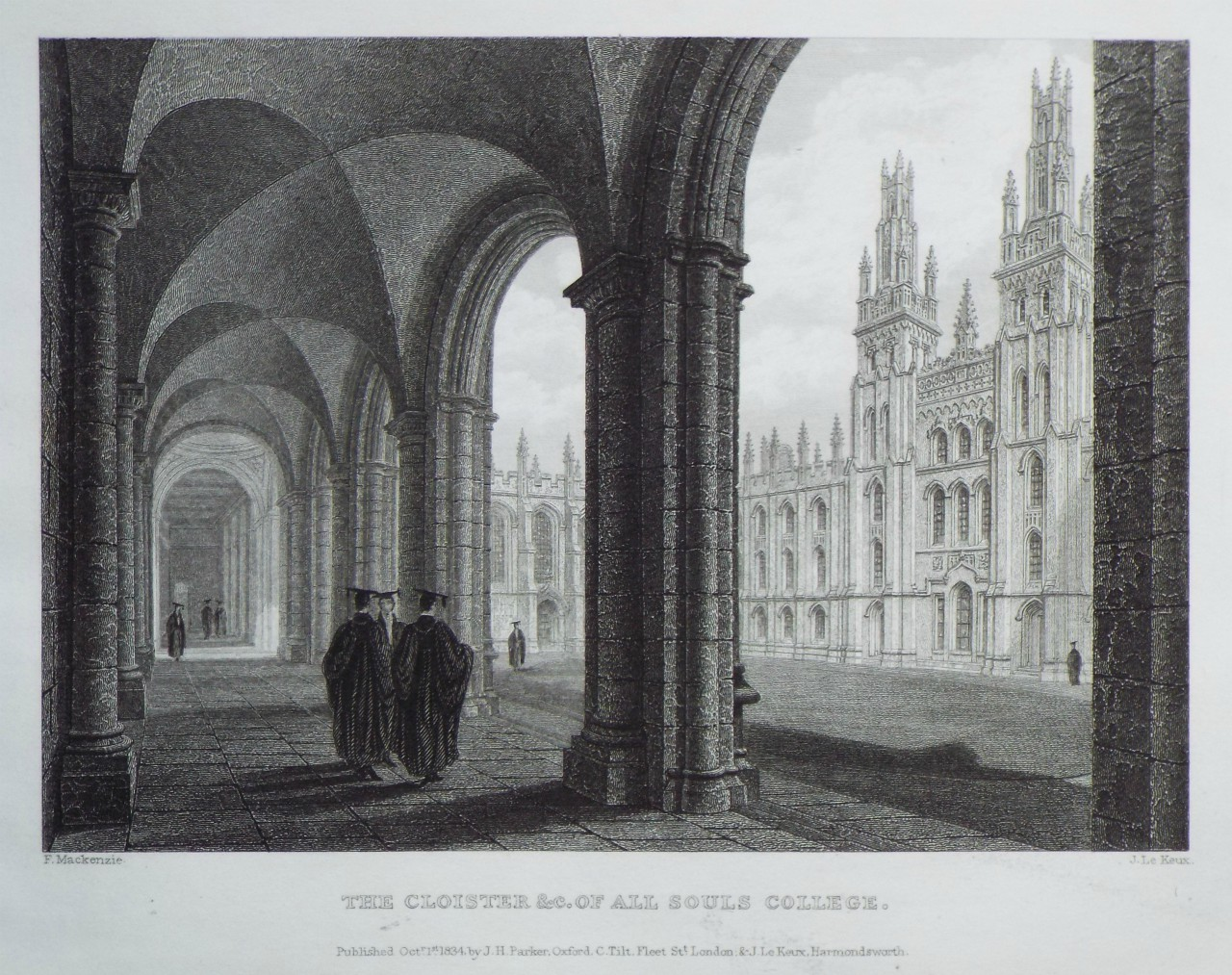Print - The Cloister &c. of All Souls College. - Le
