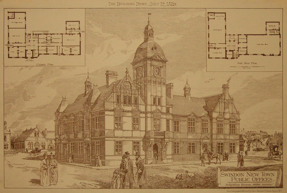 Photo-Lithograph - Swindon New Town Public Offices