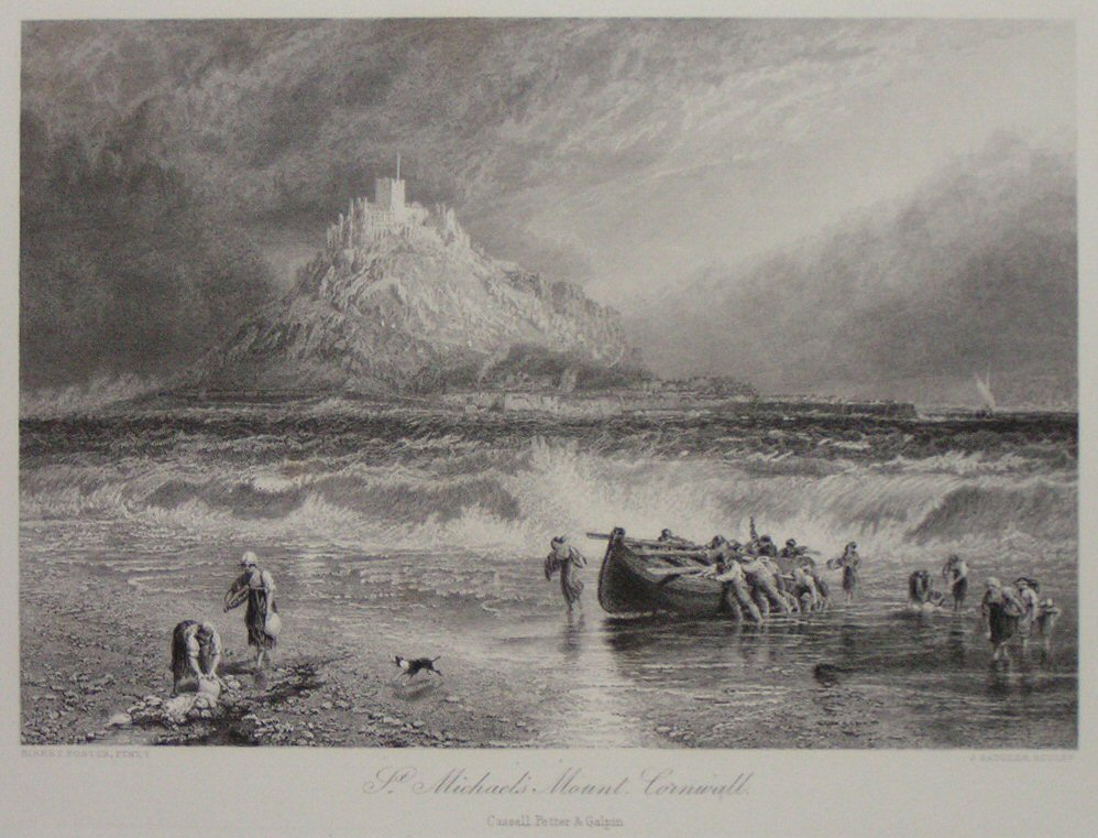 Print - St. Michael's Mount, Cornwall. - Saddler