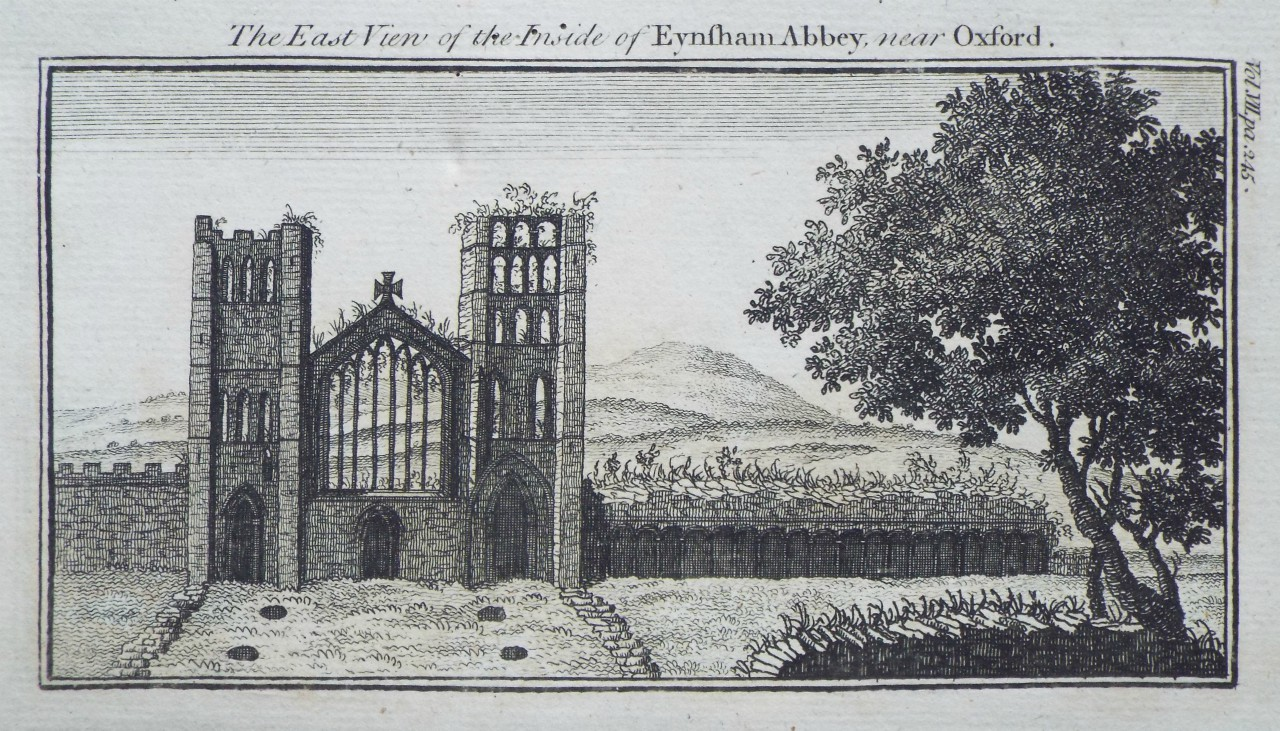 Print - The East View of the Inside of Evesham Abbey, near Oxford.