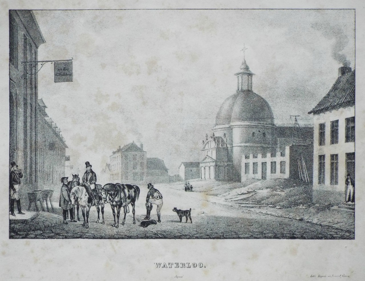 Lithograph - Waterloo. -