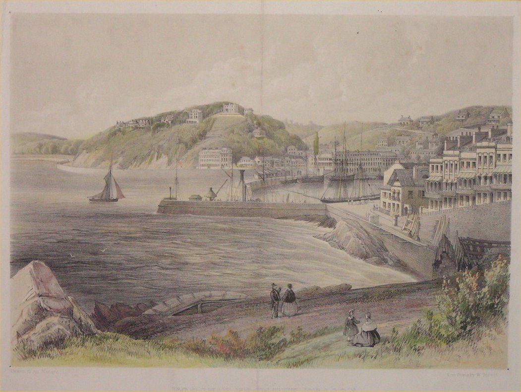 Lithograph - Torquay from the Beacon - Spreat