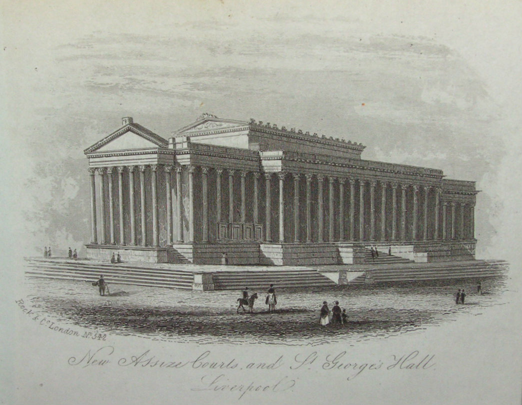 Steel Vignette - New Assize Courts and St.George's Hall, Liverpool - Rock
