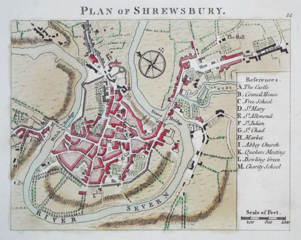 Map of Shrewsbury - Shrewsbury