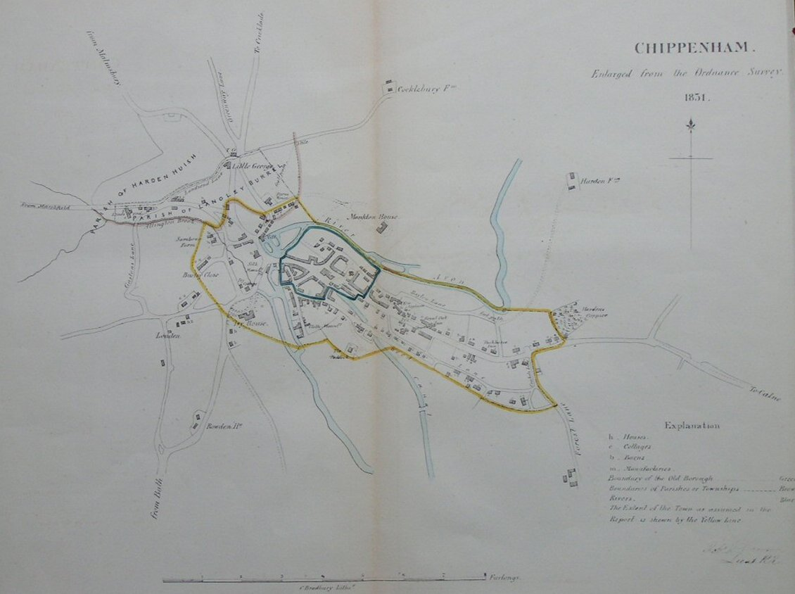Map of Chippenham - Chippenham