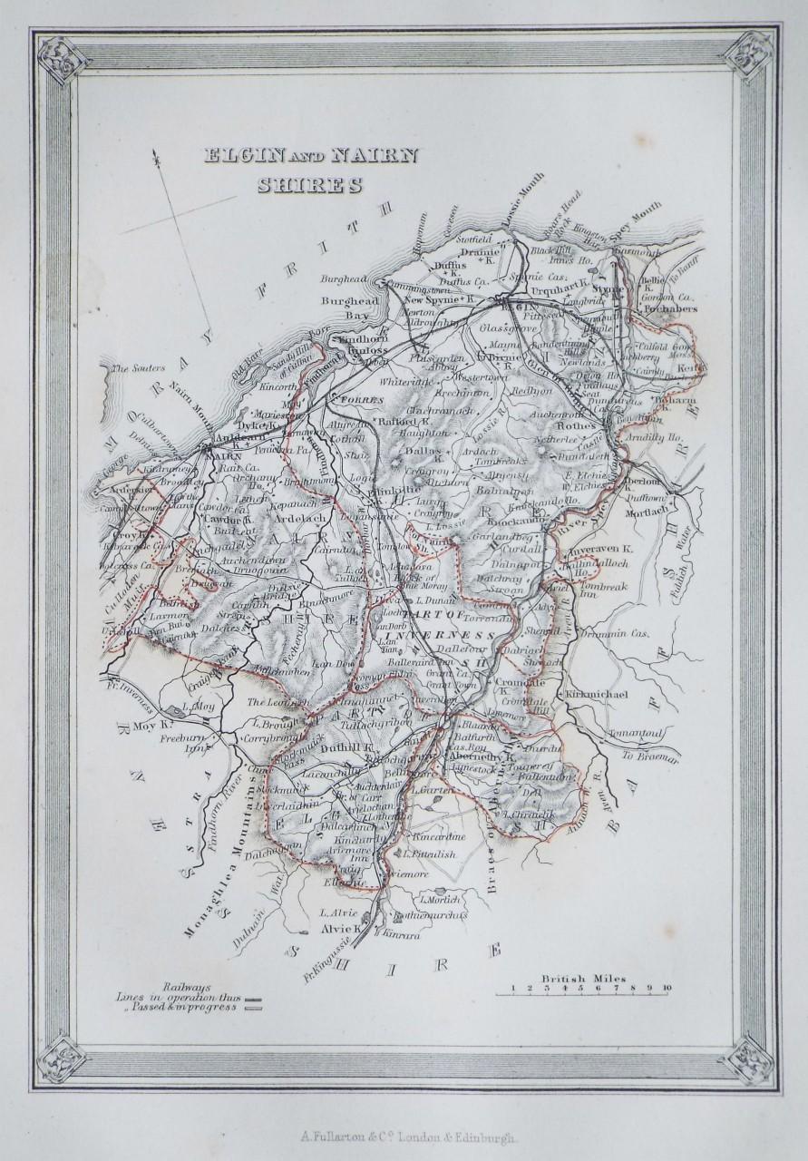 Nairn Scotland Map.Antique Map Of Scotland Fullarton