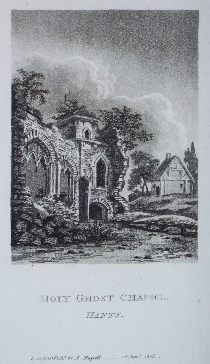 Aquatint - Holy Ghost Chapel, Hants. - Hassell