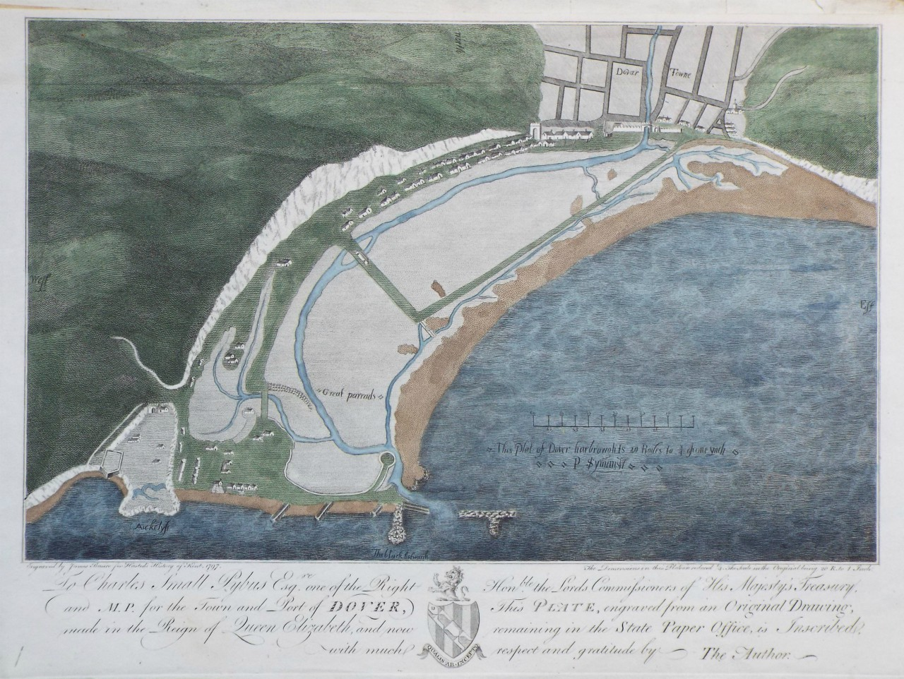 Print - (Plot of Dover Harbour) - Basire