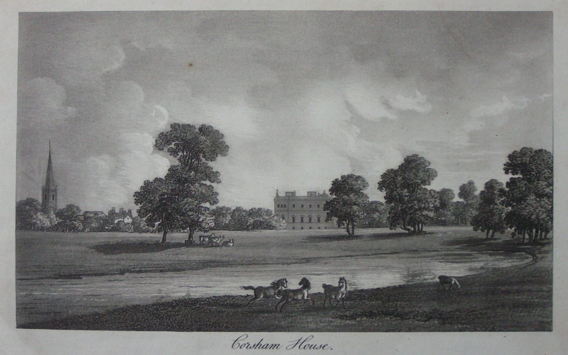 Aquatint - Corsham House - Robertson