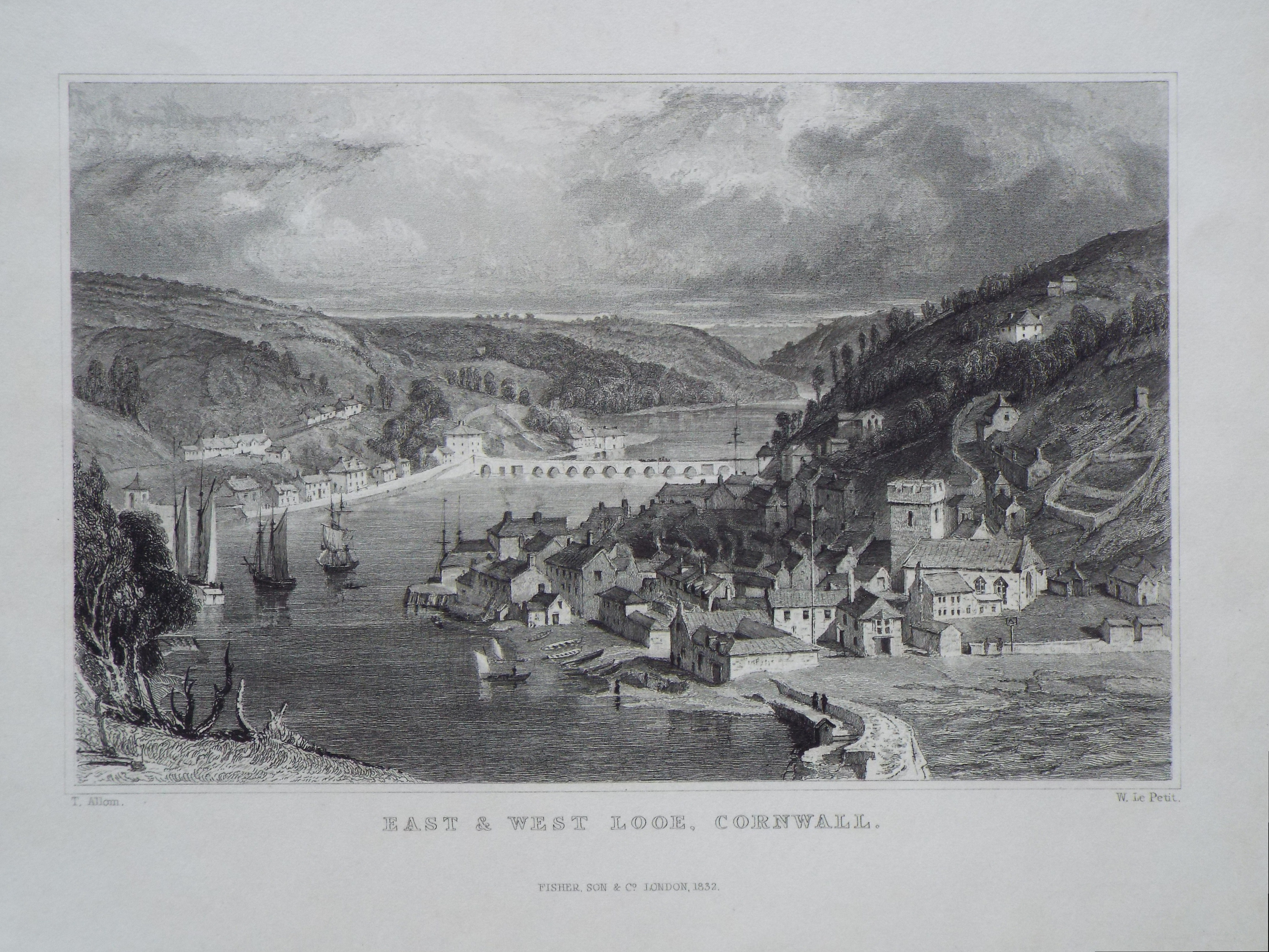 Print - East and West Looe, Cornwall. - Le