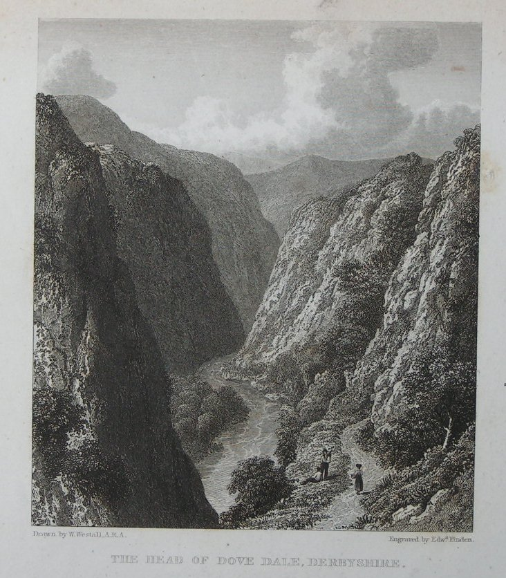 Print - The Head of Dove Dale, Derbyshire - Finden