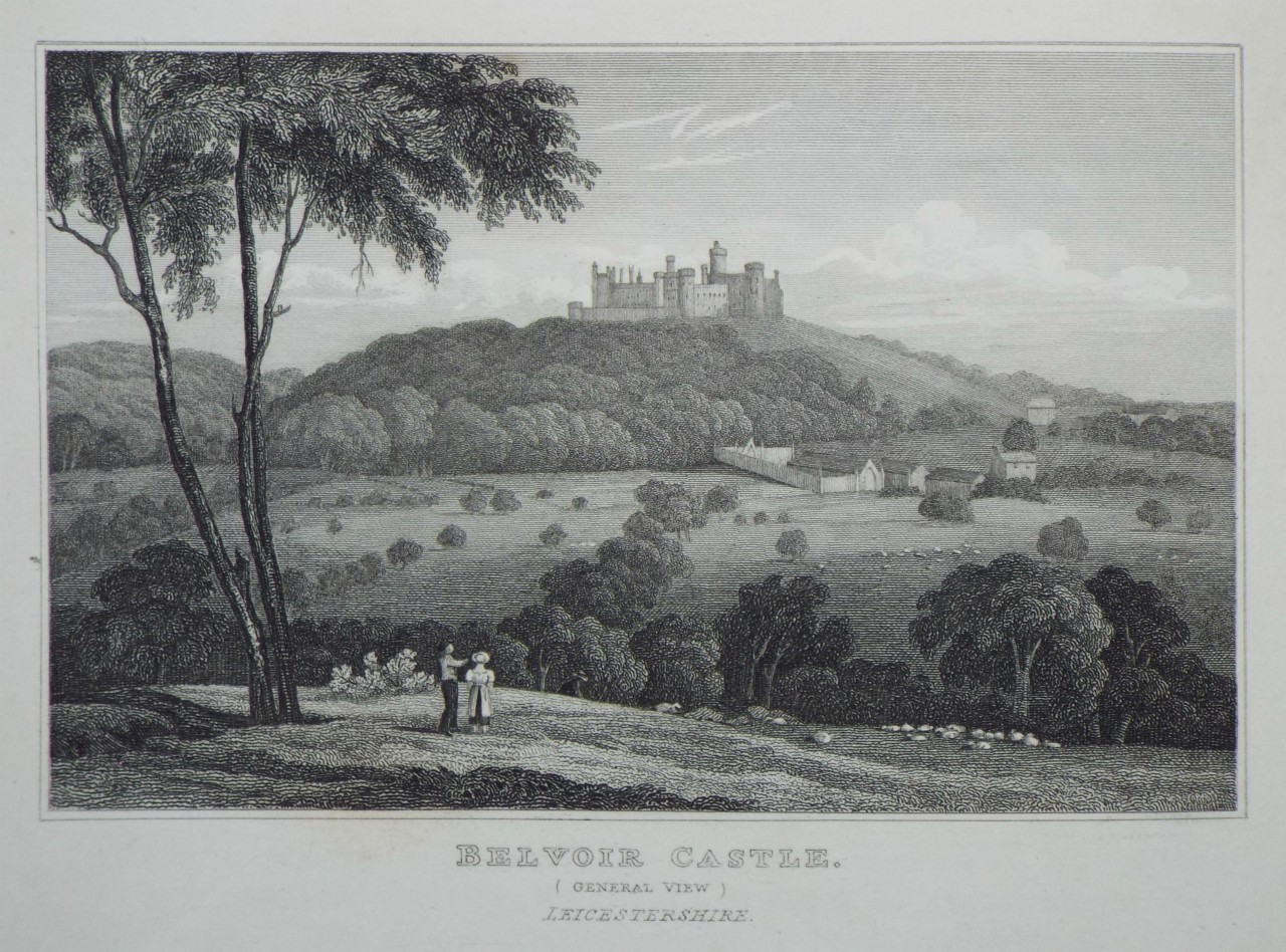 Print - Belvoir Castle, (General View) Leicestershire. The Seat of the Duke of Rutland. -
