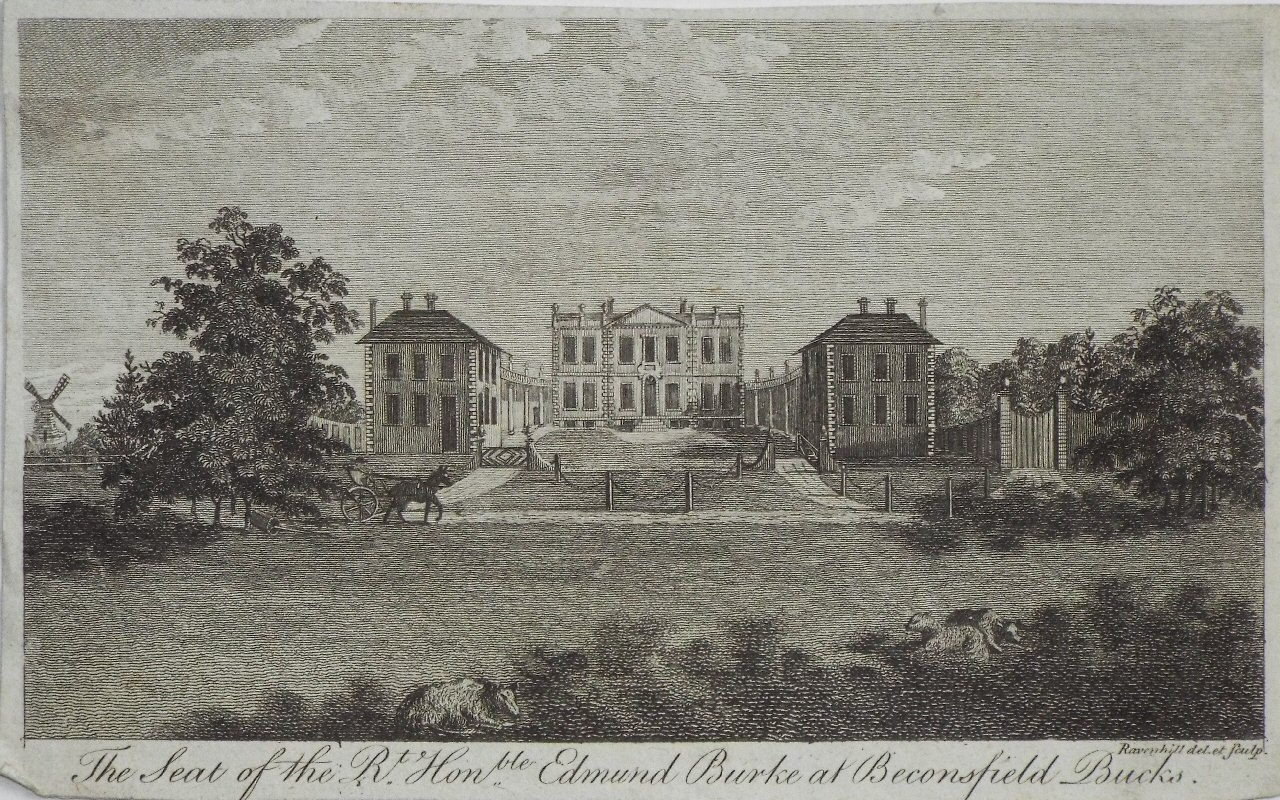 Print - The Seat of the Rt. Honble. Edmund Burke at Beaconsfield.