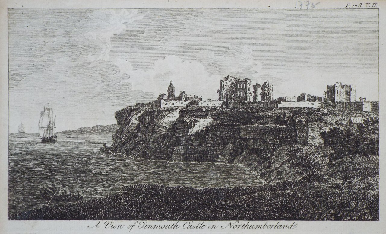 Print - A View of Tinmouth Castle, in Northumberland