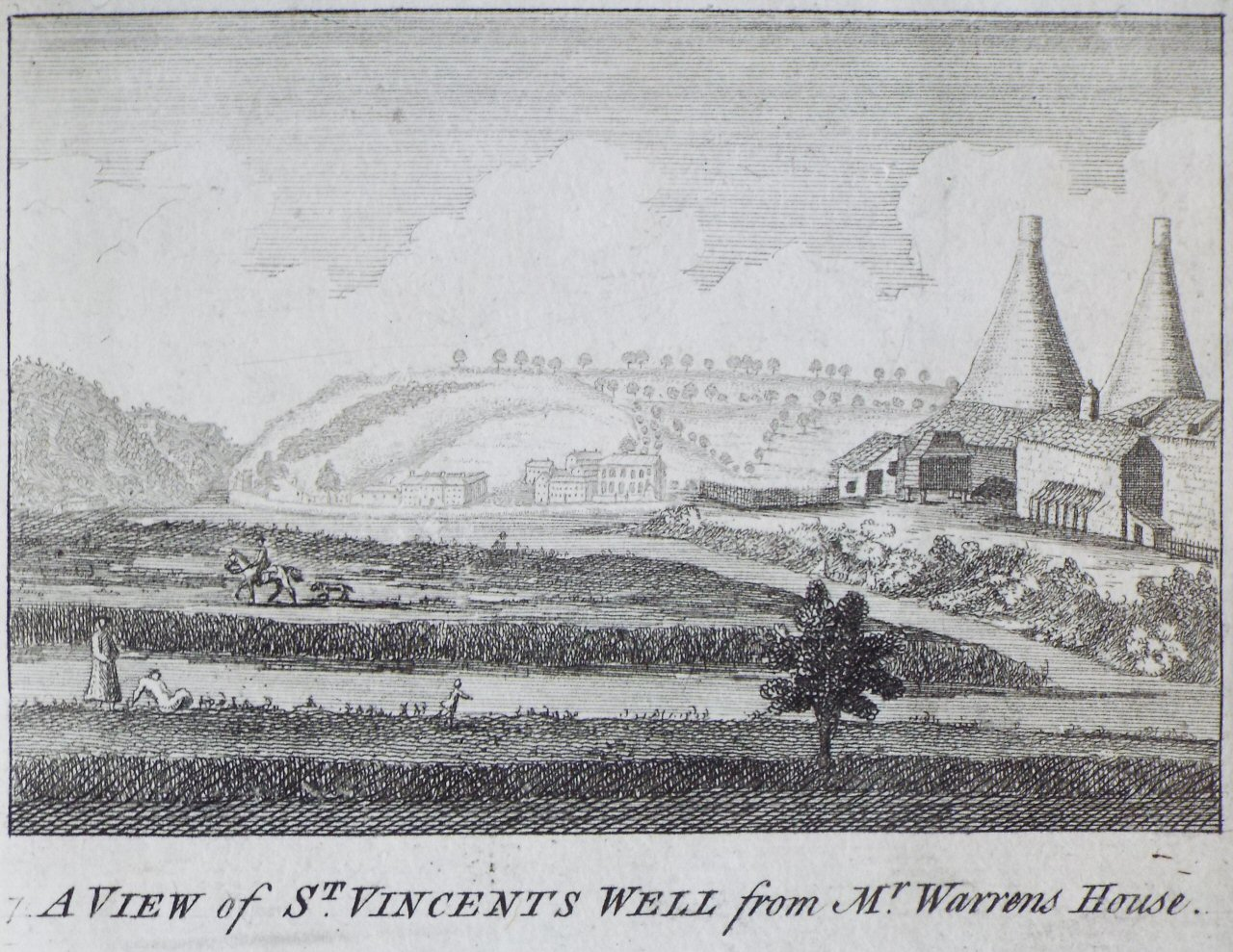 Print - A View of St. Vincent's Well from Mr. Warrens House.