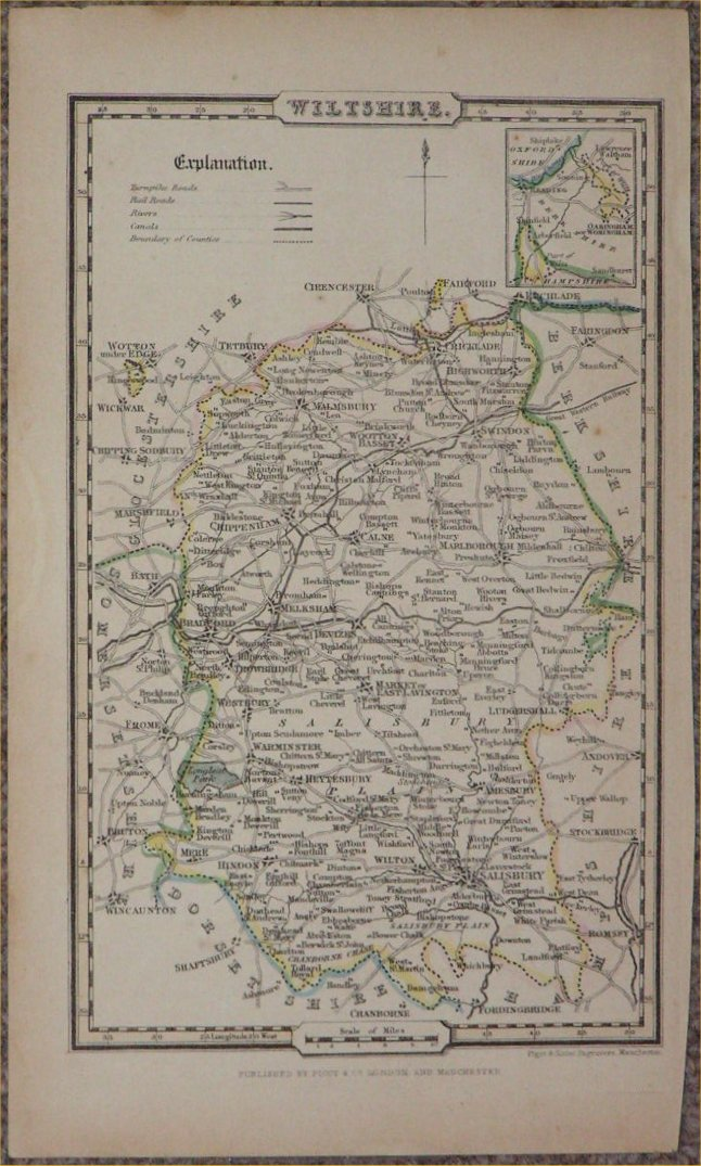 Map of Wiltshire - Pigot & Slater