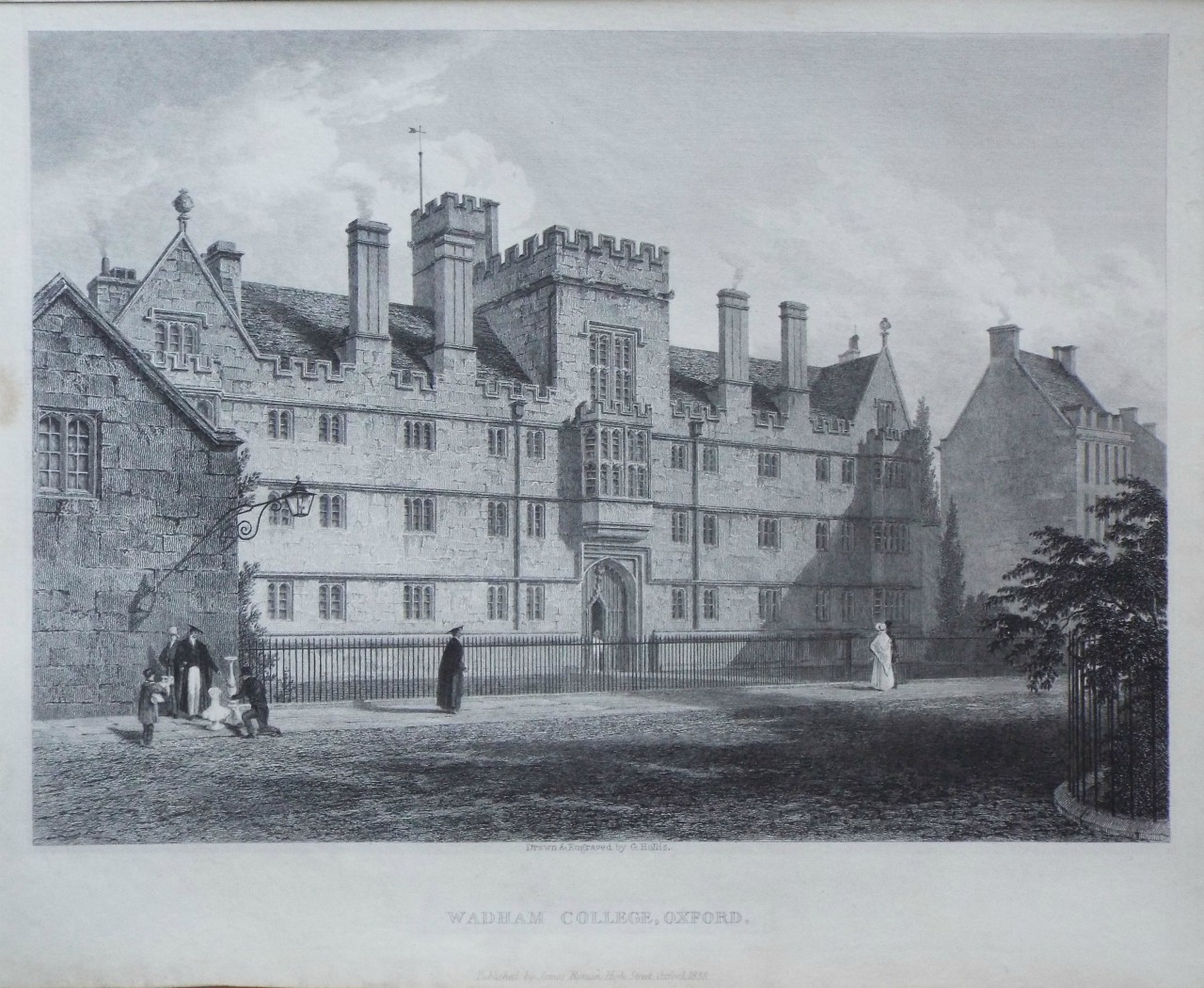 Print - Wadham College, Oxford. - Hollis