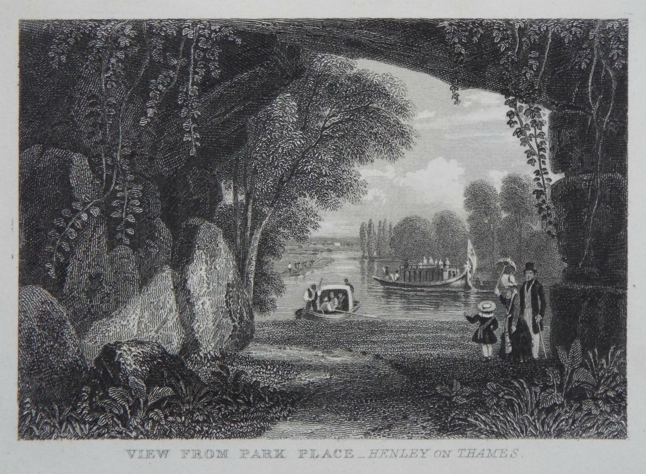 Print - View from Park Place - Henley on Thames.