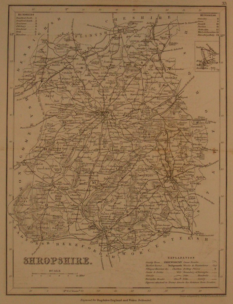 Map of Shropshire - Archer