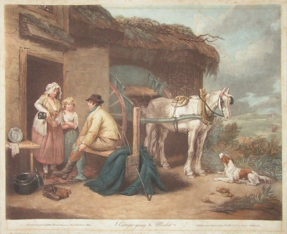 Mezzotint - A Cottager Going to Market - Ward