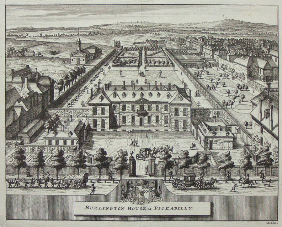 Print - Burlington House in Piccadilly