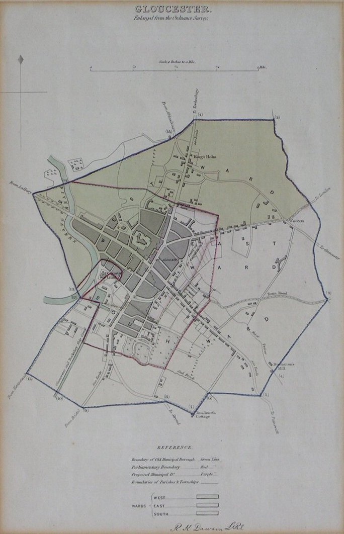 Map of Gloucester - Dawson