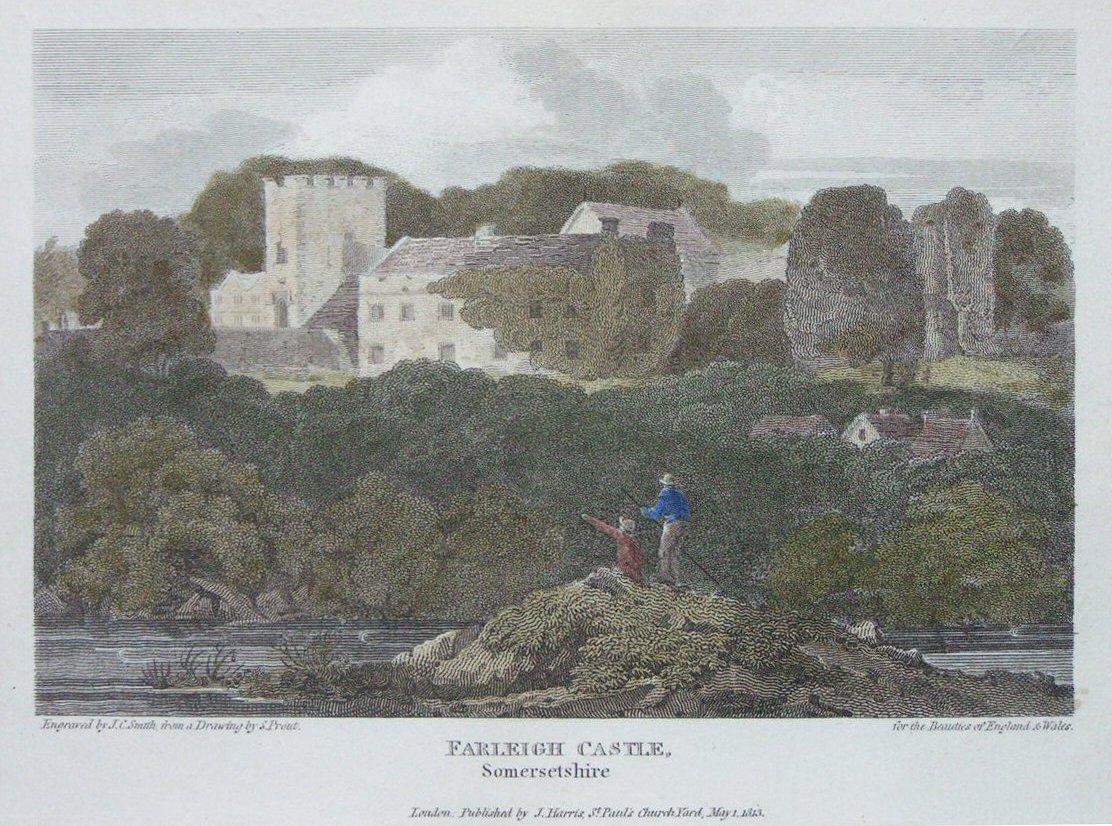 Print - Farleigh Castle, Somersetshire - Smith