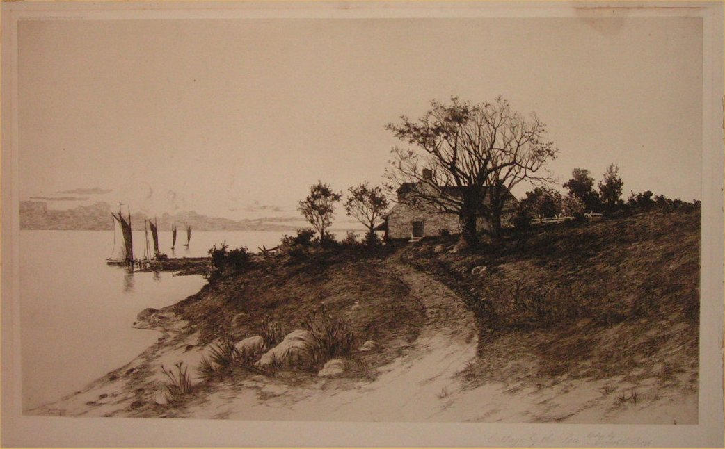 Etching - Cottages by the Sea - Rost,