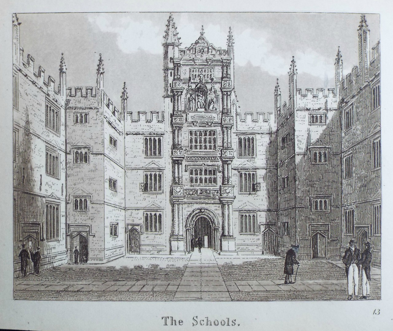 Aquatint - The Schools.