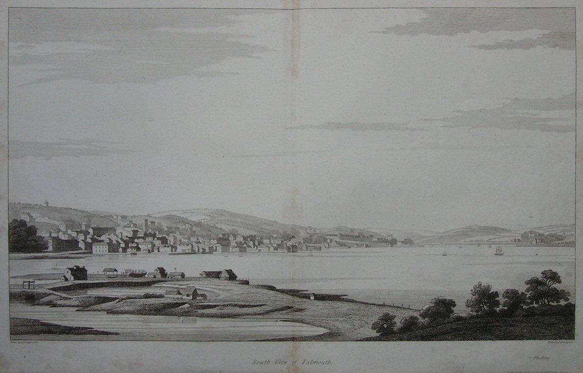 Print - South View of Falmouth - Byrne