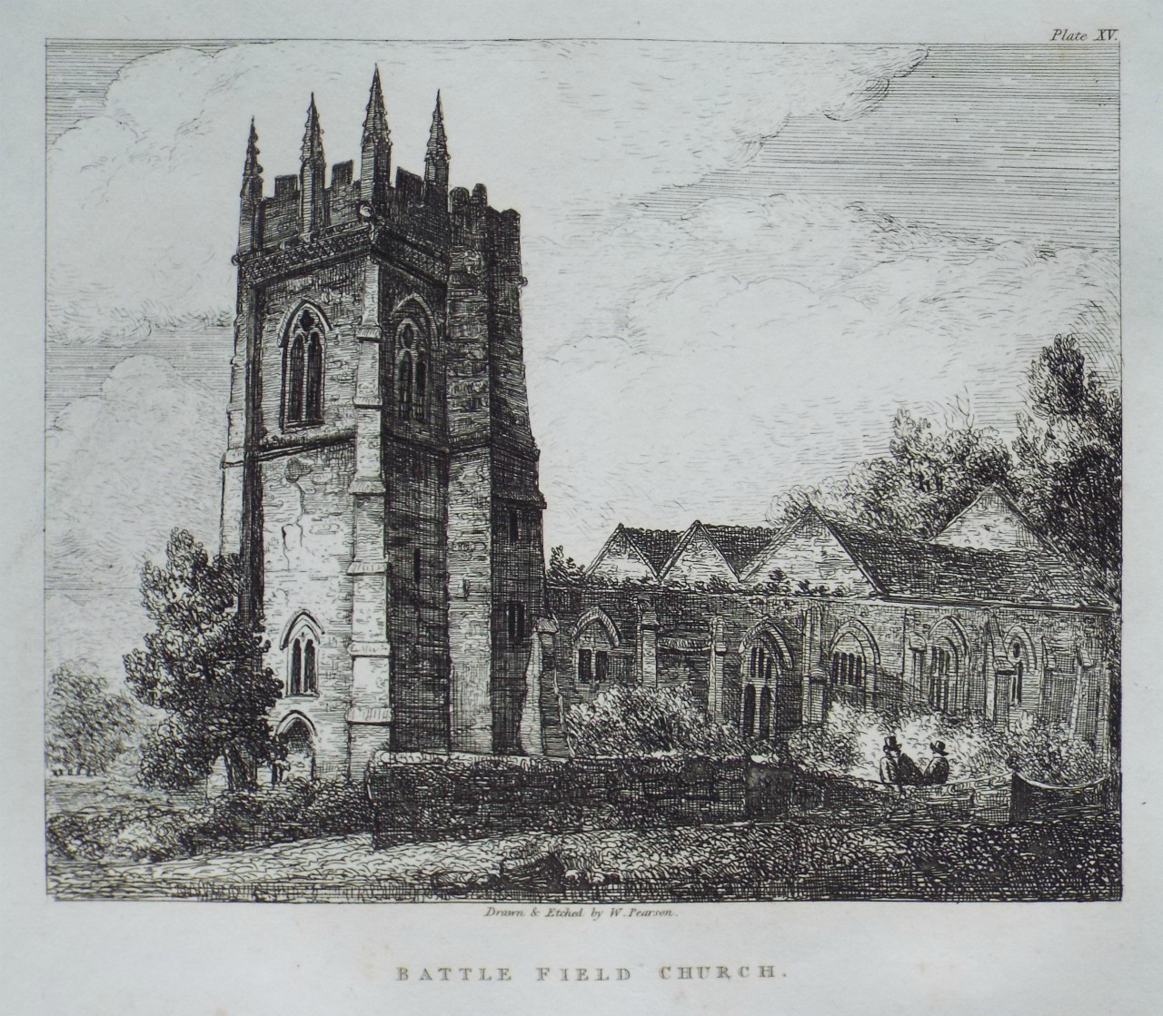 Etching - Battle Ffield Church - Pearson