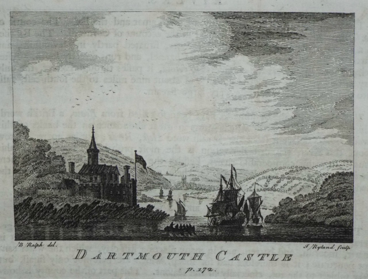 Print - Dartmouth Castle p.172. - Ryland