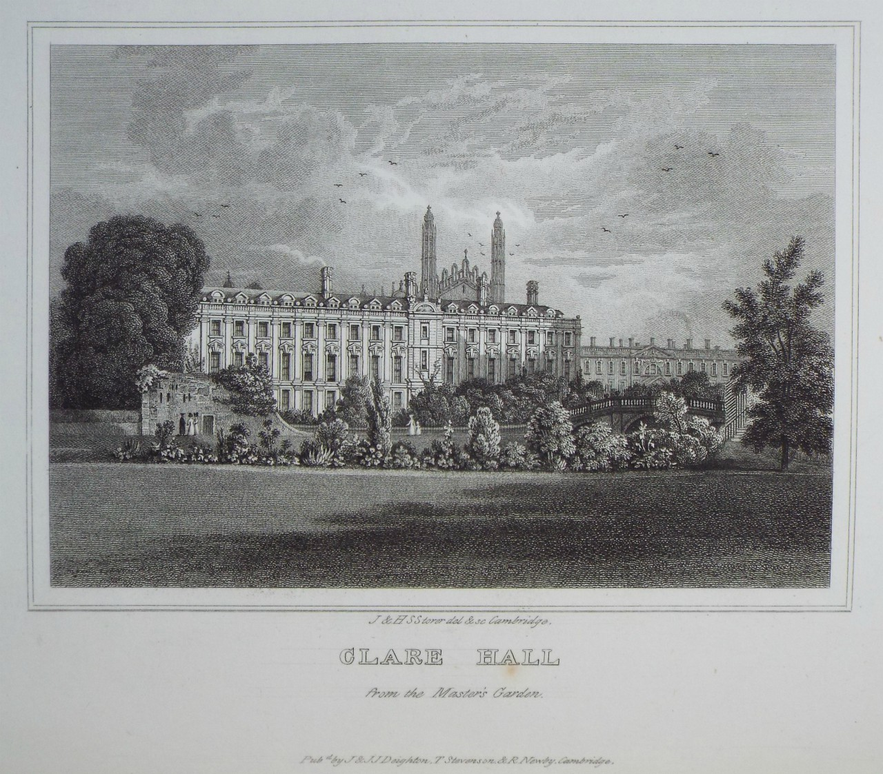 Print - Clare Hall from the Master's Garden. - Storer