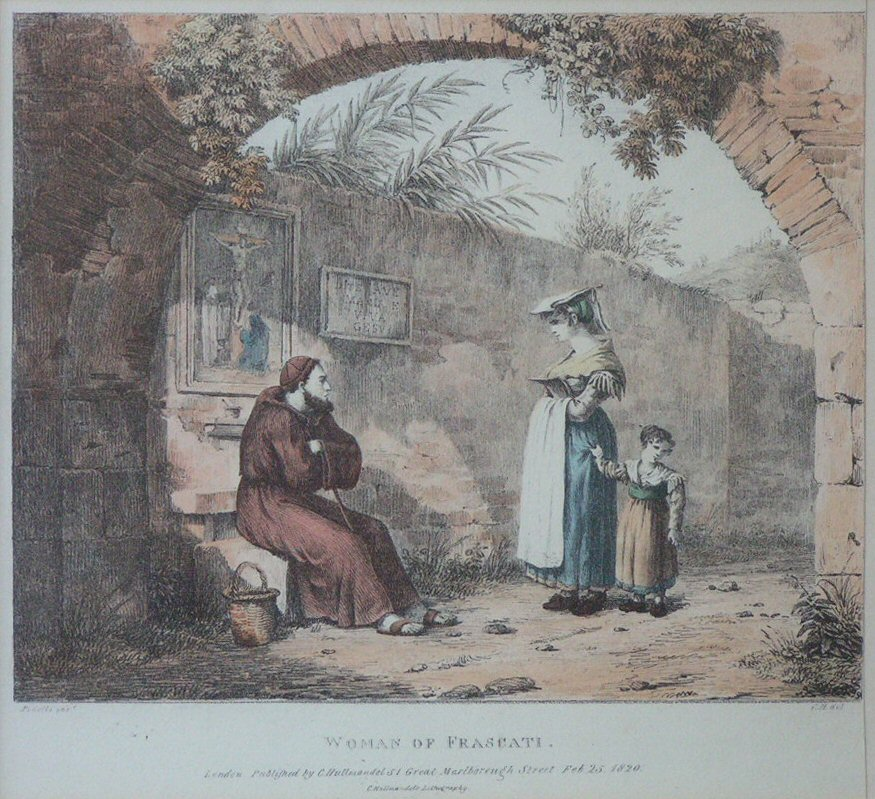Lithograph - Woman of Frascati - Hullmandel