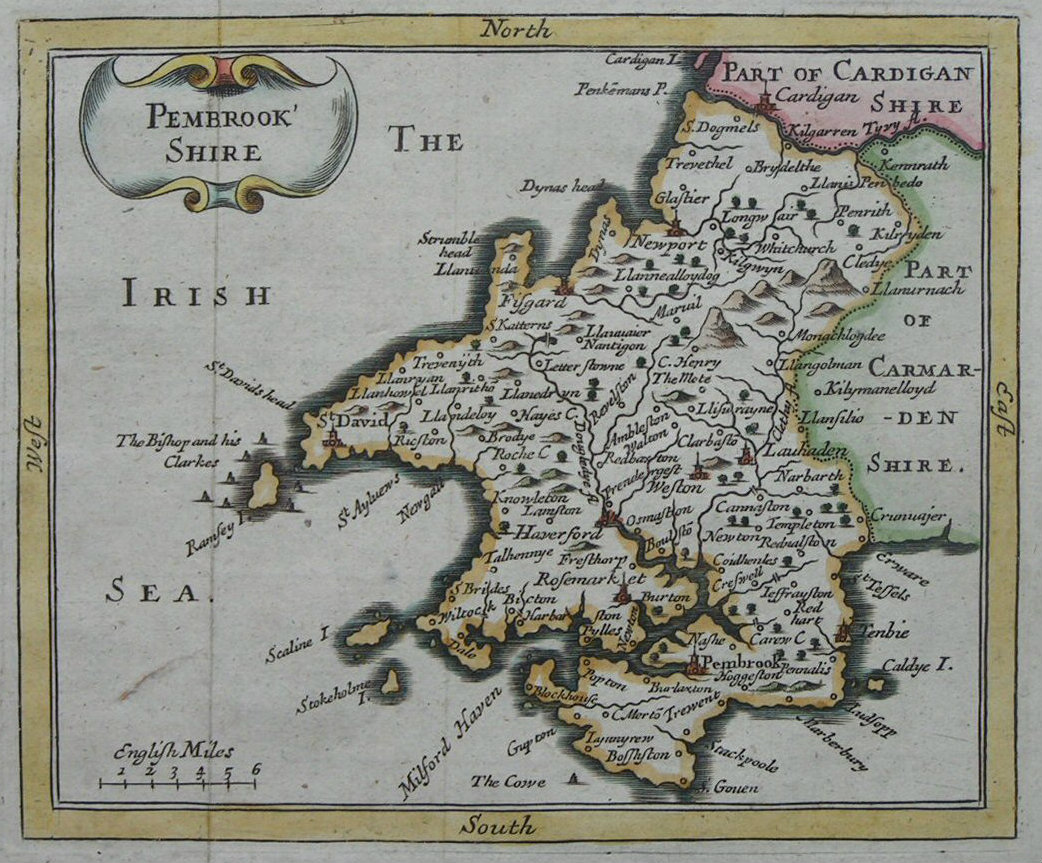 Map of Pembrokeshire - Seller