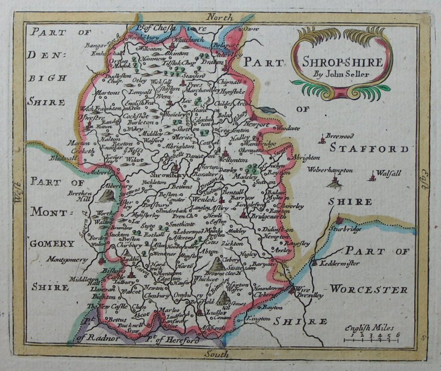 Map of Shropshire - Seller